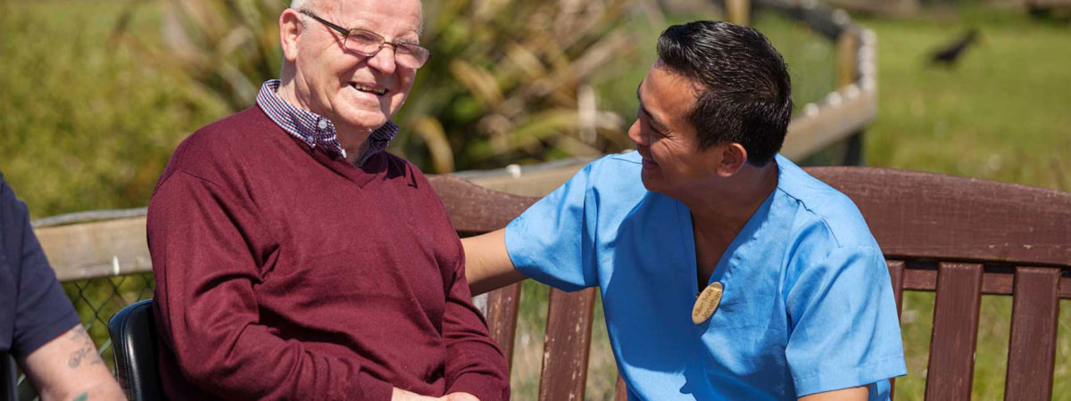 Resident and Carer at Killure Bridge